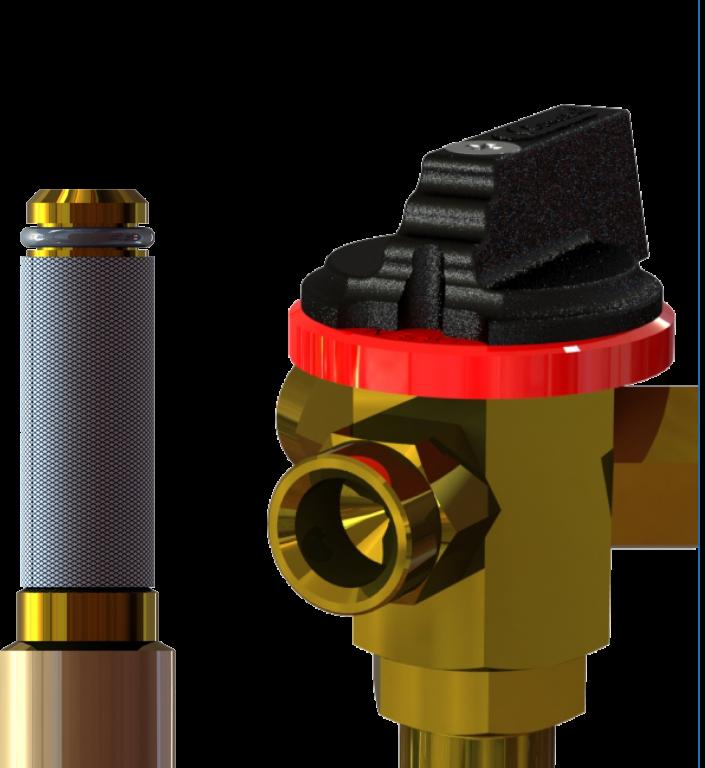 Válvulas de tres vías y filtros de toma